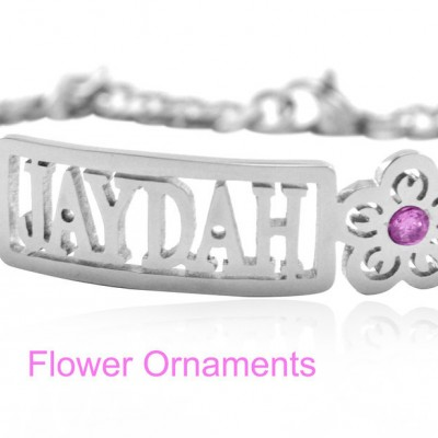 Personalised Name Bracelet/Anklet - Sterling Silver - Crafted By Birthstone Design™