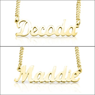 Personalised Name Necklace - 18ct Gold Plated - Crafted By Birthstone Design™