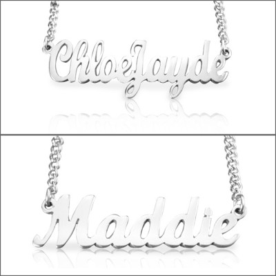 Personalised Name Necklace - Sterling Silver - Crafted By Birthstone Design™