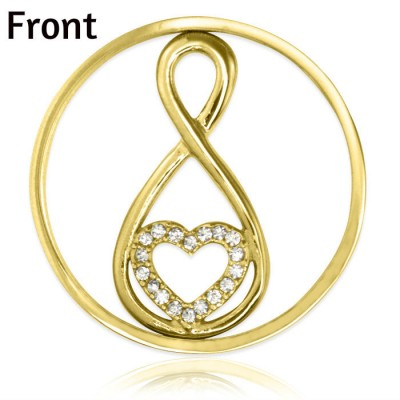 Personalised Gold Infinity - Diamonte INSERT ONLY - Crafted By Birthstone Design™