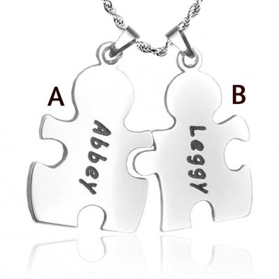 Personalised Puzzle Necklace - Sterling Silver - Crafted By Birthstone Design™