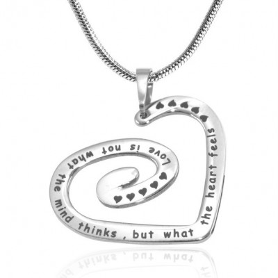 Personalised Swirls of My Heart Necklace - Sterling Silver - Crafted By Birthstone Design™