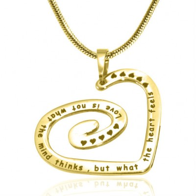 Personalised Swirls of My Heart Necklace - 18ct Gold Plated - Crafted By Birthstone Design™
