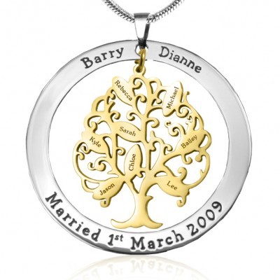 Personalised Tree of My Life Washer 8 - Two Tone - Gold Tree - Crafted By Birthstone Design™