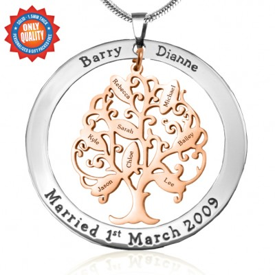 Personalised Tree of My Life Washer 8 - Two Tone - Rose Gold Tree - Crafted By Birthstone Design™