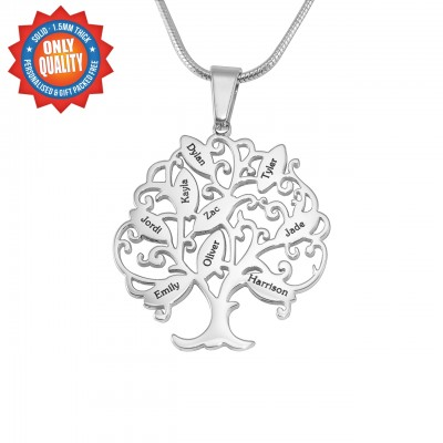 Personalised Tree of My Life Necklace 9 - Sterling Silver - Crafted By Birthstone Design™