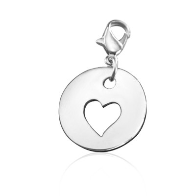 Personalised Cut Out Heart Charm - Crafted By Birthstone Design™