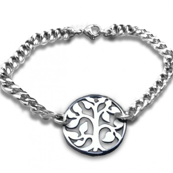 Personalised Tree Bracelet - Sterling Silver - Crafted By Birthstone Design™