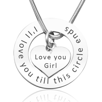 Personalised Circle My Heart Necklace - Sterling Silver - Crafted By Birthstone Design™