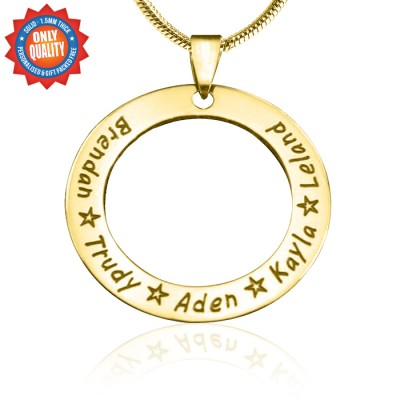 Personalised Circle of Trust Necklace - 18ct Gold Plated - Crafted By Birthstone Design™