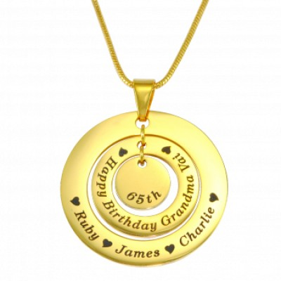 Personalised Circles of Love Necklace - 18ct GOLD Plated - Crafted By Birthstone Design™