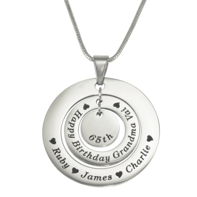 Personalised Circles of Love Necklace - Silver - Crafted By Birthstone Design™
