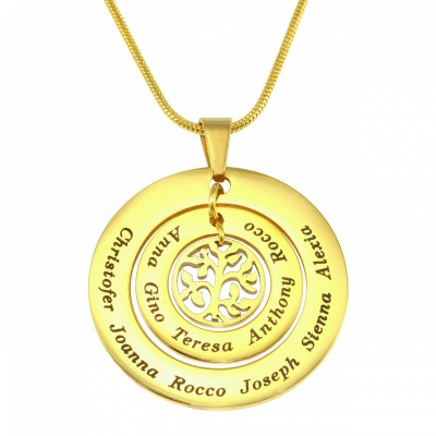 Personalised Circles of Love Necklace Tree - 18ct Gold Plated - Crafted By Birthstone Design™