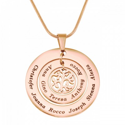 Personalised Circles of Love Necklace Tree - 18ct Rose Gold Plated - Crafted By Birthstone Design™