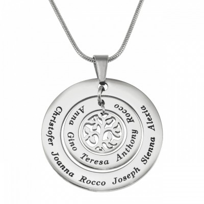 Personalised Circles of Love Necklace Tree - Silver - Crafted By Birthstone Design™