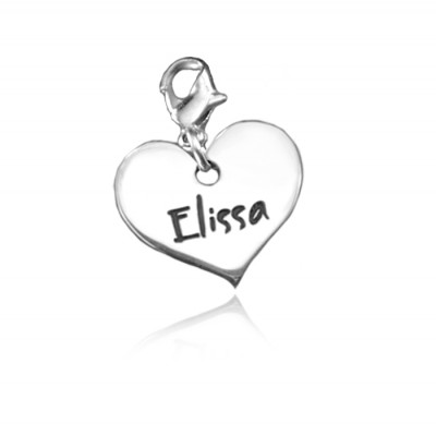 Personalised Heart Charm - Crafted By Birthstone Design™