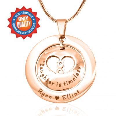 Personalised Infinity Dome Necklace - 18ct Rose Gold Plated - Crafted By Birthstone Design™