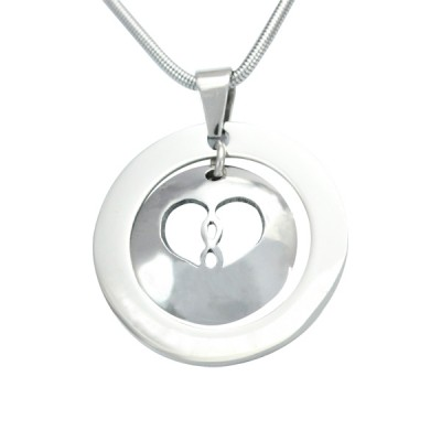Personalised Infinity Dome Necklace - Two Tone - Rose Gold Dome  Silver - Crafted By Birthstone Design™