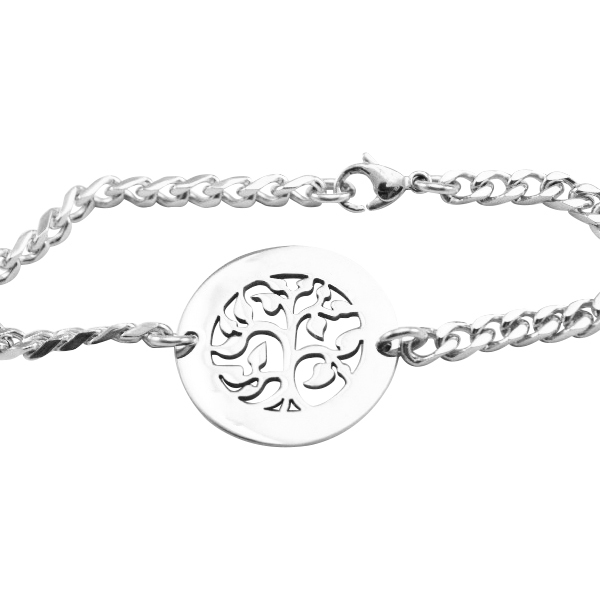 Personalised My Tree Bracelet/Anklet - Sterling Silver - Crafted By Birthstone Design™
