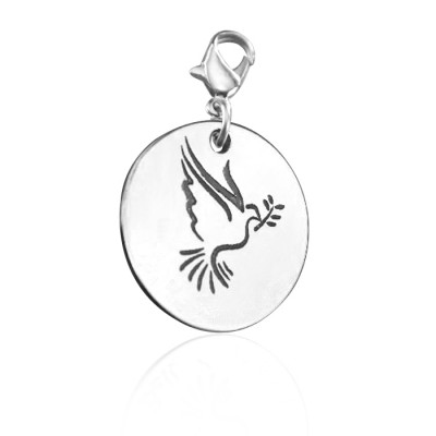 Personalised Peaceful Dove Charm - Crafted By Birthstone Design™