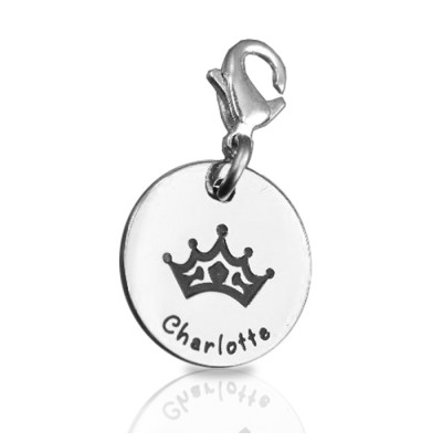Personalised Princess Charm - Crafted By Birthstone Design™