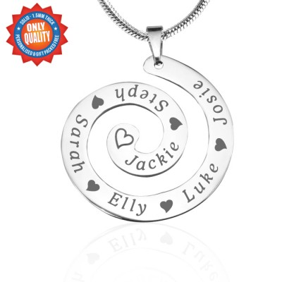 Personalised Swirls of Time Necklace - Sterling Silver - Crafted By Birthstone Design™