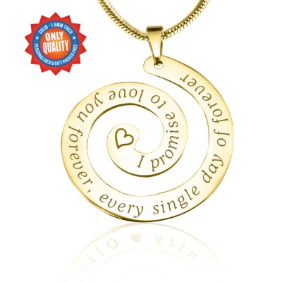Personalised Promise Swirl - 18ct Gold Plated*Limited Edition - Crafted By Birthstone Design™