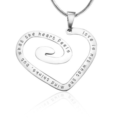 Personalised Love Heart Necklace - Sterling Silver *Limited Edition - Crafted By Birthstone Design™
