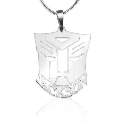 Personalised Transformer Name Necklace - Sterling Silver - Crafted By Birthstone Design™