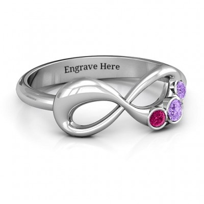 Now and Forever  Infinity Ring - Crafted By Birthstone Design™