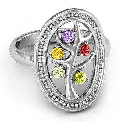 Organic Tree of Life  Ring - Crafted By Birthstone Design™