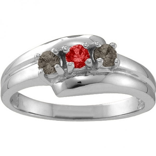 Reverie  Angled 2-6 Stones Ring  - Crafted By Birthstone Design™