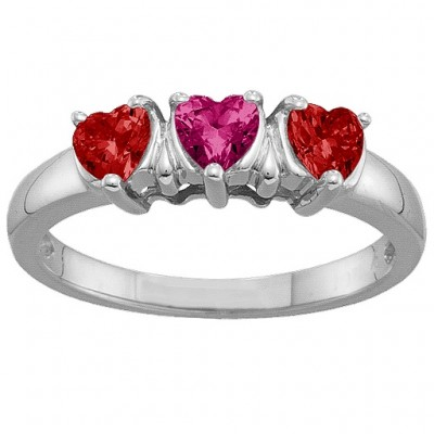 2-5 Hearts Ring - Crafted By Birthstone Design™