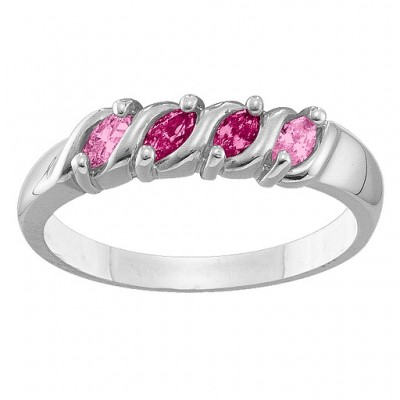 2-6 Marquise S-Curve Ring - Crafted By Birthstone Design™