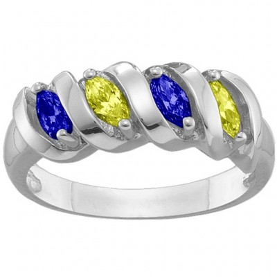 2-6 Marquise Spiral Ring - Crafted By Birthstone Design™