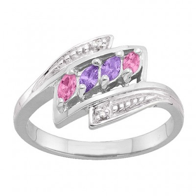 2-6 Marquise and Accents Ring - Crafted By Birthstone Design™