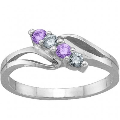 2-7 Stones Branch Ring  - Crafted By Birthstone Design™