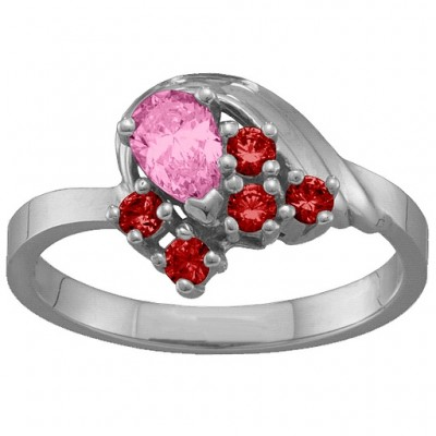 3-9 Stones Swan Ring  - Crafted By Birthstone Design™