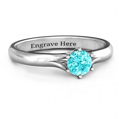 6 Prong Solitaire Ring - Crafted By Birthstone Design™