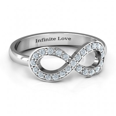 Accented Infinity Ring - Crafted By Birthstone Design™