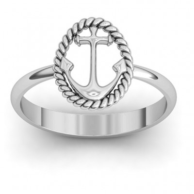 Anchor Ring - Crafted By Birthstone Design™