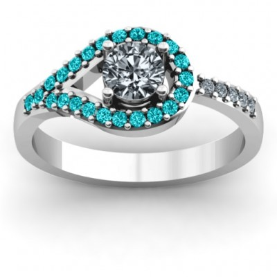 Asymmetrical Wrap Knot Ring - Crafted By Birthstone Design™