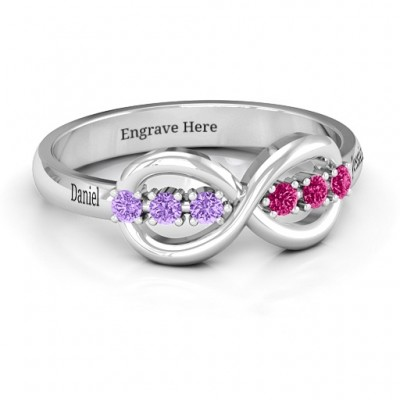 Auroral Infinity Ring - Crafted By Birthstone Design™