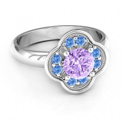 Blossoming Love Engagement Ring - Crafted By Birthstone Design™