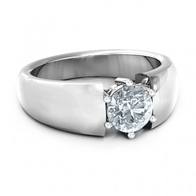 Bold Devotion Solitaire Ring - Crafted By Birthstone Design™