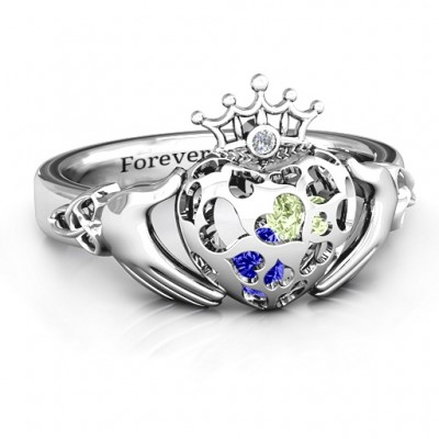 Caged Hearts Claddagh Ring - Crafted By Birthstone Design™