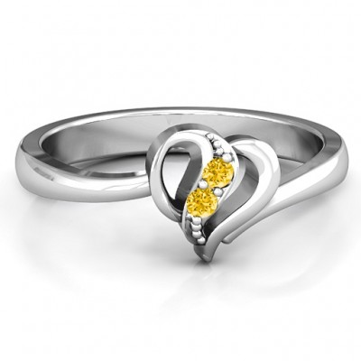 Centre Weave Fashion Heart Ring - Crafted By Birthstone Design™
