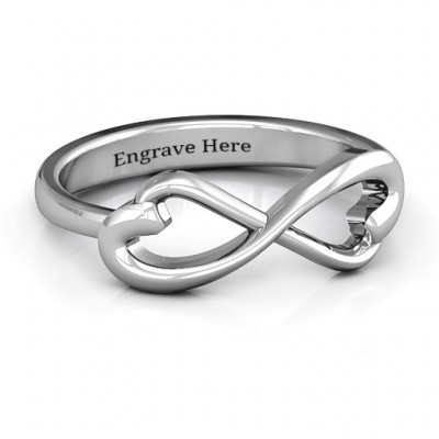 Classic Hearts Infinity Ring - Crafted By Birthstone Design™