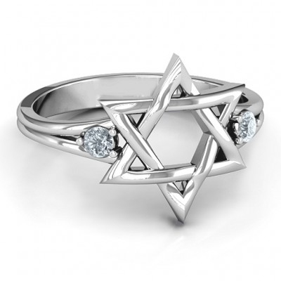 Classic Star of David Ring - Crafted By Birthstone Design™