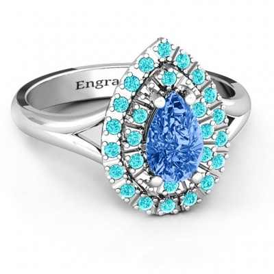 Cleopatra Double Halo Ring - Crafted By Birthstone Design™